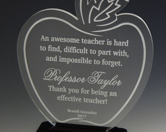 Gift for College Teacher - Professor Gifts - Teachers Thank You Personalized End of Year Gifts, ATA010