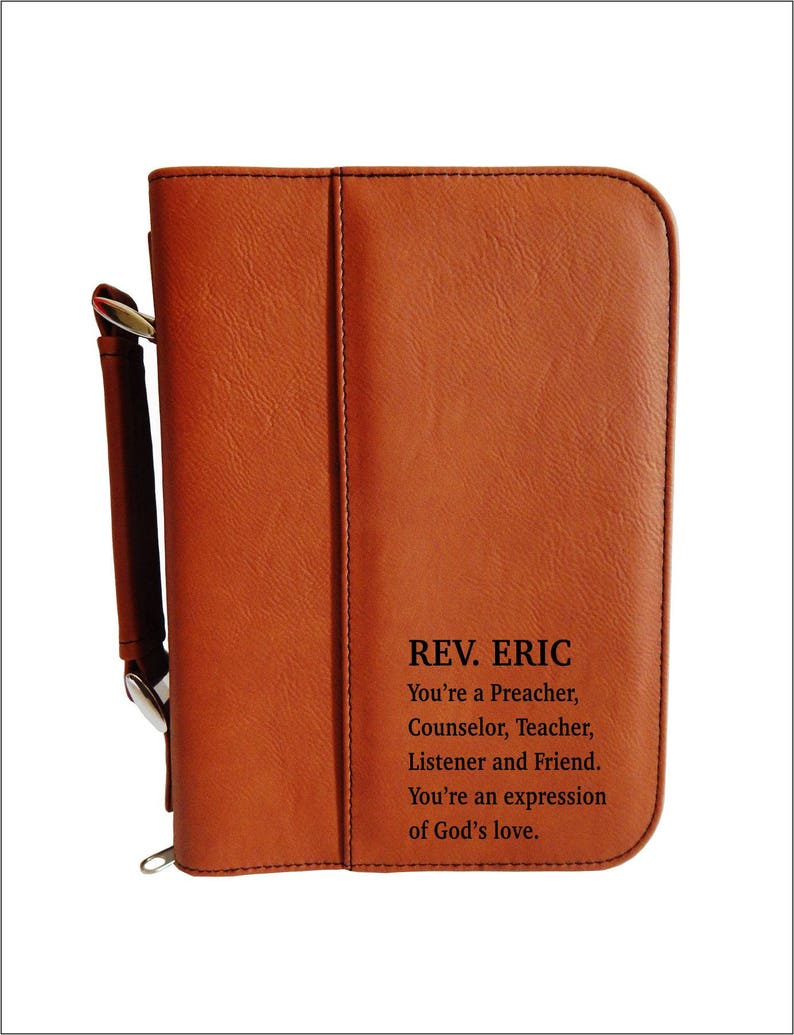Personalized Bible Case  Leather Bible Cover    Engraved image 0