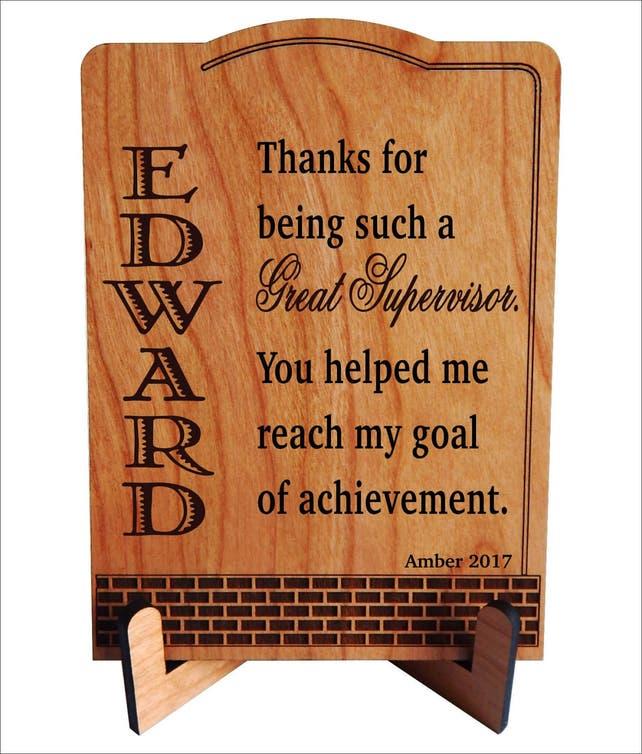 Geschenk für Betreuer Team Leader Chef Danke Plaque   Etsy