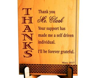 Gift for Mentor Boss - Gifts for Manager - Personalized Appreciation Plaque for Male Boss, PBA009