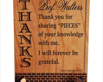 Mentor Teacher Gift - Personalized Appreciation Gifts for Professor - Thank You Gift, PLT021