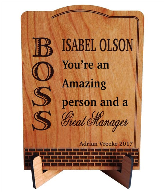 Gift For Manager Mentor Boss Gifts Personalized Christmas Lady Boss Plaque Pba007