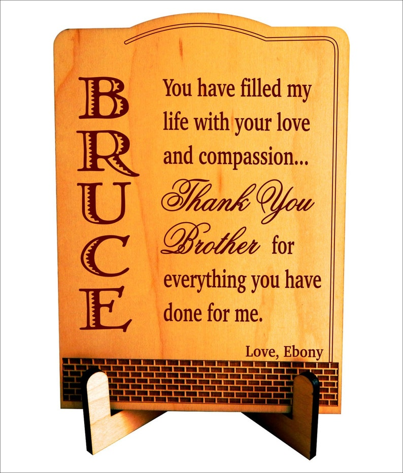 Christmas Gift For Brother Birthday Gifts Personalized