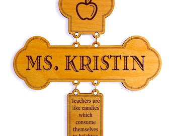 Teacher Gift - Gifts for Teachers Appreciation Personalized - End of Year Cross Thank You Gift, GDT3