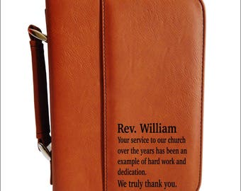 Leather Bible Case - Personalized Bible Cover - Religious Gifts - Engraved Bible Covers - Cases with Handle and Zipper, BCL039