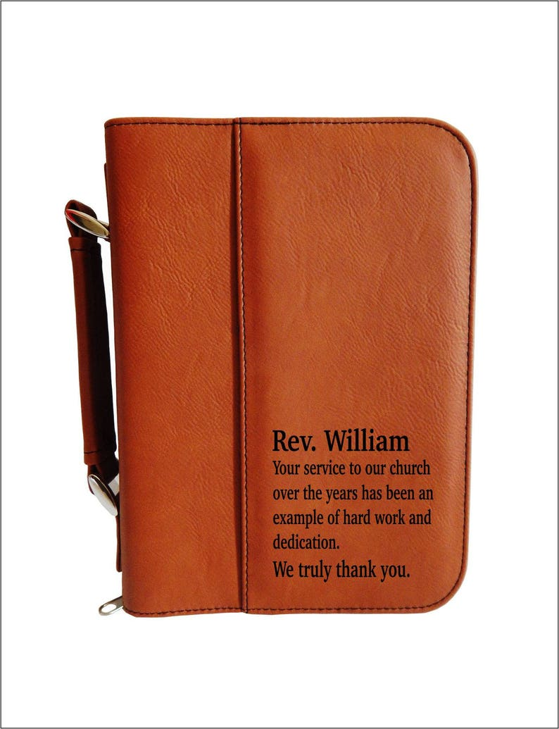Leather Bible Case  Personalized Bible Cover  Religious image 0