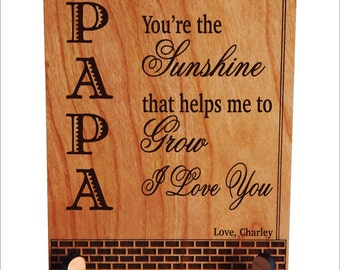 Father's Day gift for Grandpa - Personalized Birthday Sign from Grand kids - Grandfather gift s from Granddaughter, PGP002