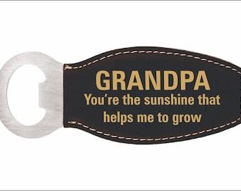Grandpa Birthday Gift - Gifts for Grandfather - Christmas Bottle Opener from Grandchildren - Granddaughter - Grandson, LBO007
