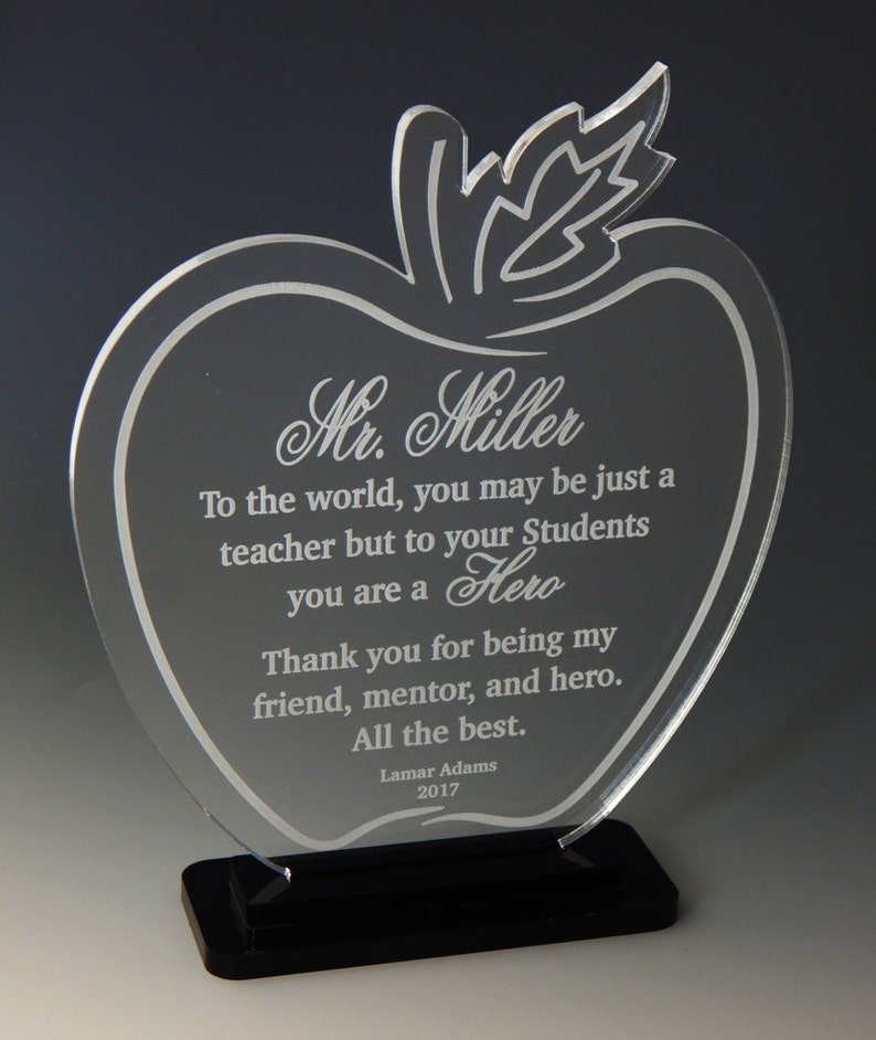 Bulk Apple Teacher Gifts - Gift for Teachers - Personalized Appreciation  Award from Student, ATA008