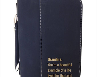 Christmas Gift for Grandma - Leather Bible Cover from Granddaughter - Mothers Day Gifts for Grandmother, BCL033