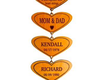 Anniversary Gift for Mom and Dad - Christmas Gifts for Parents - Housewarming Wall Plaque