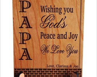 Gift for Papa - Grandpa Fathers Day Gifts Personalized - Grandpa Birthday Gift from Grandchildren - Grandkids, PGP003