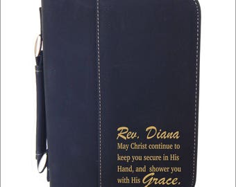 Women Christian Gifts - Religious Gift for Mom - Engraved Leather Bible Cover - Personalized Case, BCL016