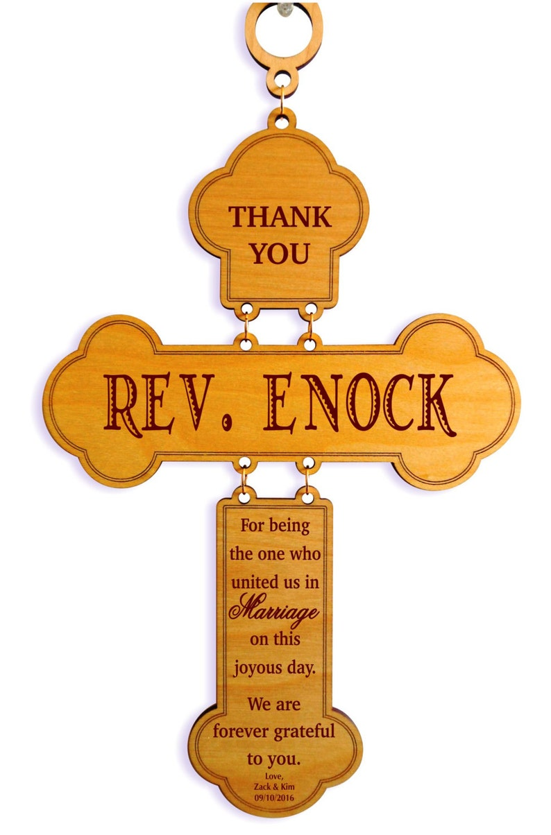 Wedding Officiant Gift Idea  Gifts for Priest  Personalized image 0