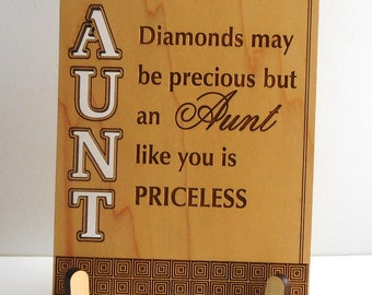 Aunt Birthday Gift from Niece and Nephew - Gifts for Aunts - Personalized Christmas Plaque,  PLA009