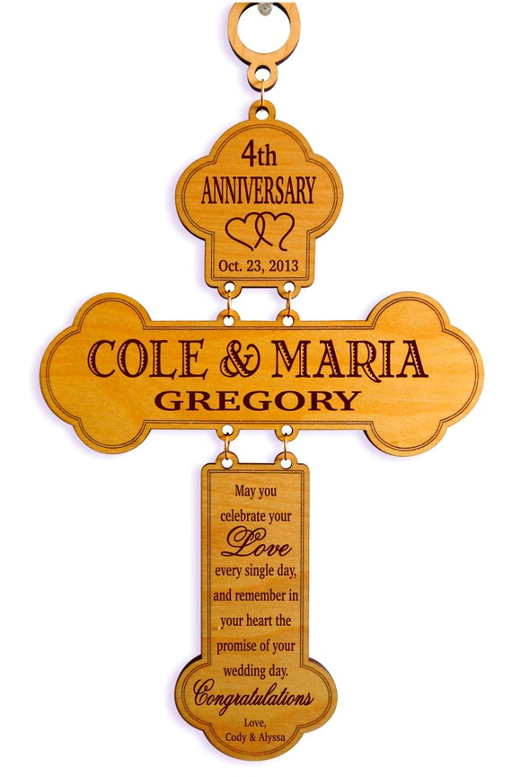 4th Wedding Anniversary Gifts Gift For Couple Personalized Etsy