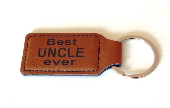 Oncle cadeau de mariage - cadeaux pour les cadeaux d'anniversaire - Noël Key chain - oncle Best Ever, KLM013