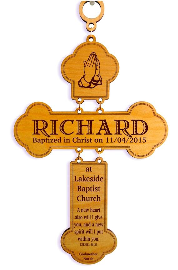 Katholische Taufe Geschenk Personalisierte Taufe Kreuz Aus Patenschaft Geschenke Für Baby Mädchen Junge Taufe Gdb1