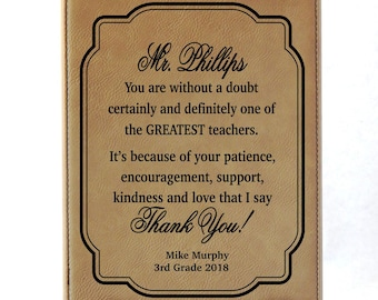 End of Year Teacher Gifts - Gift for Teachers - Personalized Sign for Men Friend, LT05