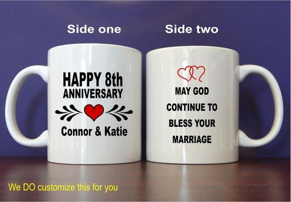 8th Wedding Anniversary Gifts Gift For Couple Personalized Etsy