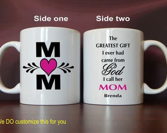 Mug for Mom- Mom Gift - Personalized Gifts for Mothers Day - Mom Birthday Gift - Mother's Day Gift, MMA010