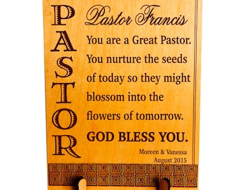 Father's Day Gift for Pastor - Appreciation Gifts - Personalized Christmas Sign, PLP052