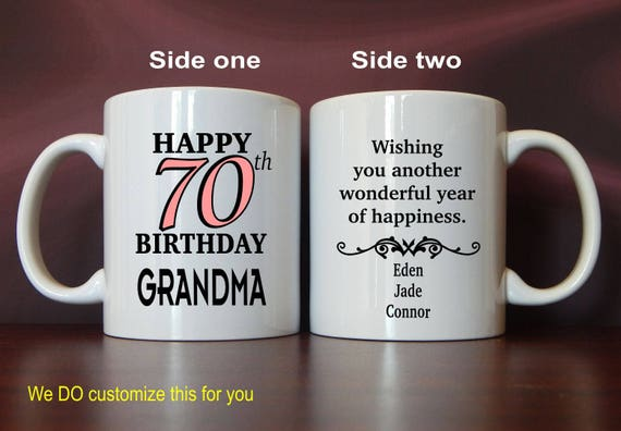 70th Birthday Gift For Grandma Gifts Grandmother