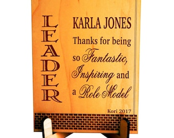 Boss Thank You Gift - Birthday Gifts for Mentor Supervisor - Lady Appreciation Christmas Plaque, PBA003