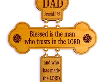 Christian Gifts for Men  - Dad Christmas Gift - Father's Day Religious Cross from Daughter - Son