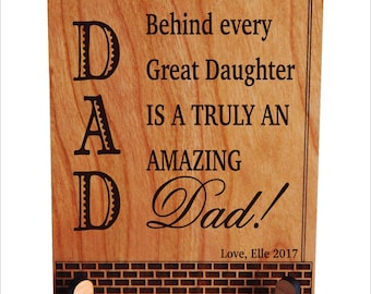 Dad Wedding Gift from Daughter - Fathers Day Gift Personalized Plaque from Son, PDL032