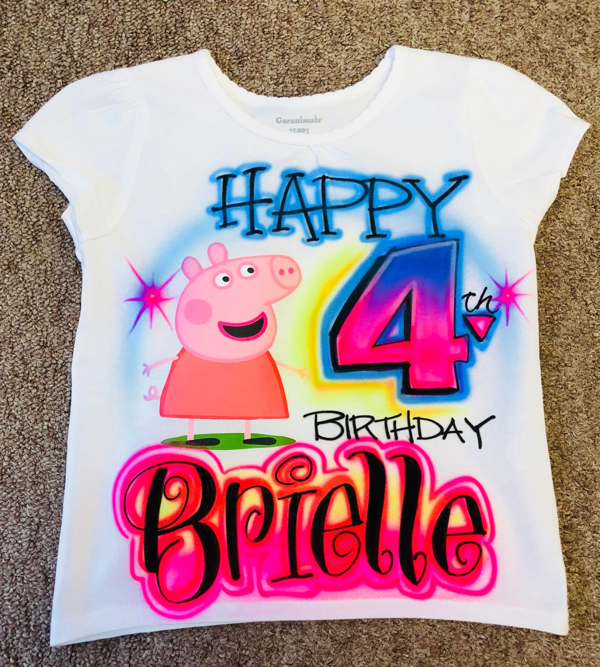 Peppa Pig Birthday Shirts For Family Toffee Art