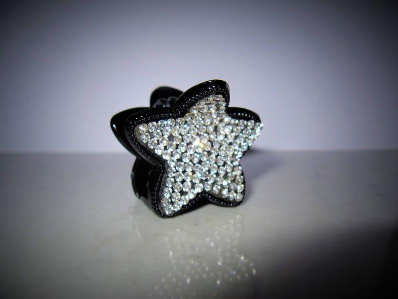 Petit mini noir éclat étoile étoile pince à cheveux clip avec   Etsy