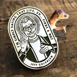 Jeff Goldblum Gold Enamel Pin