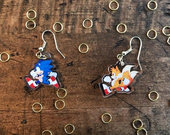 Sonic and Tails Earrings