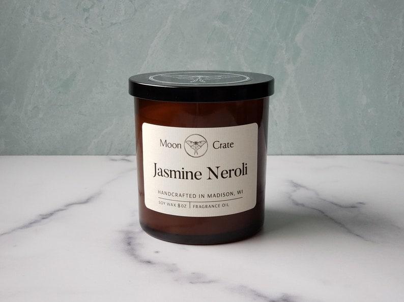 Jasmine Neroli Soy Candle Winter Scent 8oz