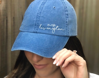 Mrs. Last Name Hat   Dad Hat   Mrs. Baseball Hat   Engagement Gift   For Bride   For Best Friend   For Her   Mrs Hat   Bride To Be Hat