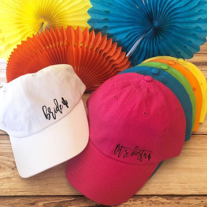 c72da53a4e7 Fiesta Bachelorette Dad Hats | Bride Dad Hat | Let's Fiesta Hat |  Bachelorette Party Hats | Fiesta Bachelorette Party | Final Fiesta