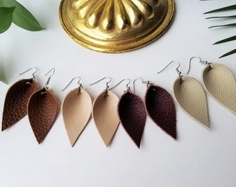 8afc0e62c0ef9f Joanna Gaines Inspired Earrings, Leather Earrings, Leather Leaf Earrings,  Teardrop Earrings, Zia Style, Boho Earrings, Magnolia, Fixer Upper