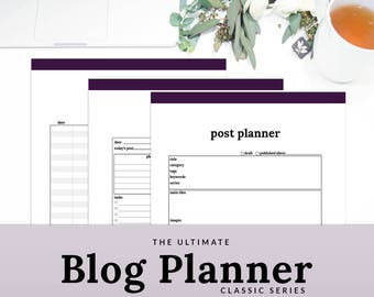 Blog Planner Blogging Planner Blog Organizer Social Media Planner Blog Printable Planner | PBLG-1100-A, INSTANT DOWNLOAD