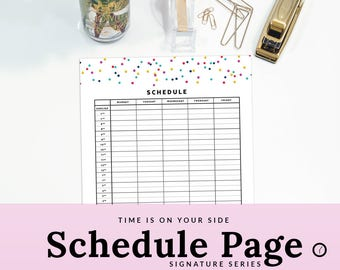 daily time tracker etsy