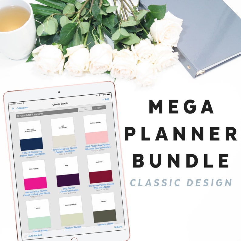 Digital Planner Bundle, Mega Classic, for Goodnotes and Note-taking apps  with iPad Pro | DBUN-1111, Instant Download