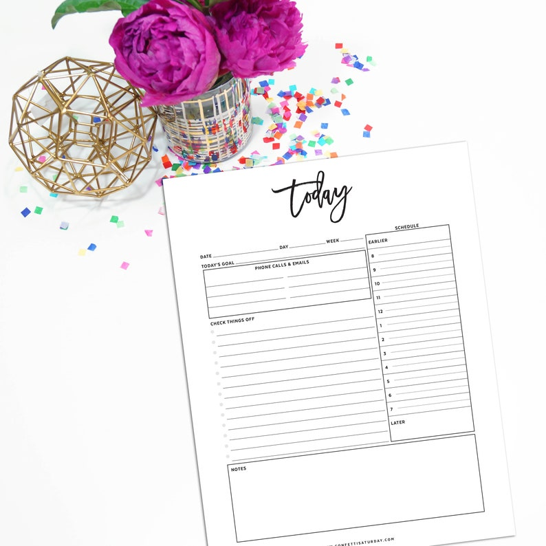 NDLY-1200-L Daily Planner Notepad
