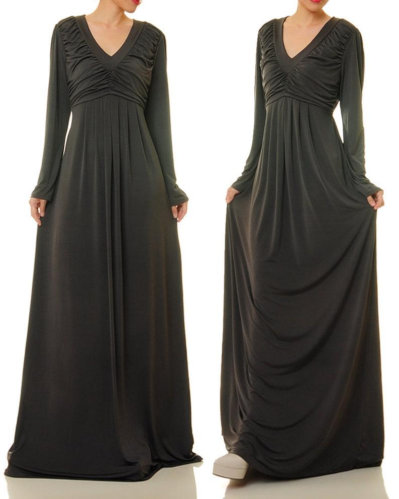cc475470cc04b0 Abaya Maxi jurk Lange mouwen Maxi jurk Lange mouwen