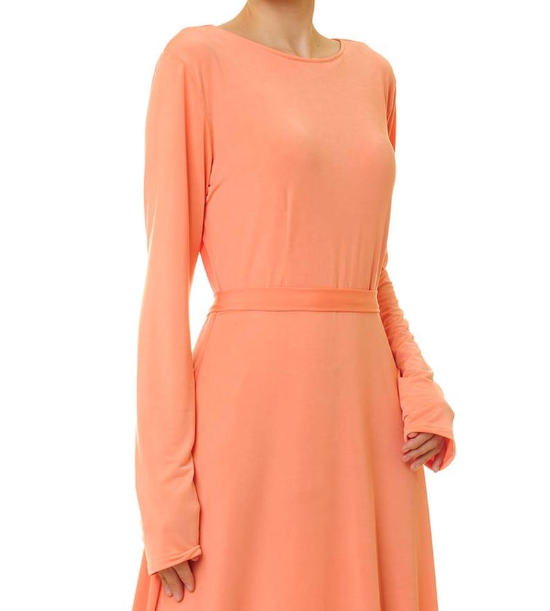 5d14a93abf97 Orange Maxi Dress Orange Bridesmaid Dress Abaya Maxi Dress | Etsy