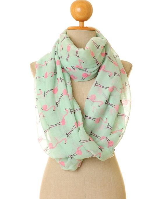 Flamant rose foulard Pink Flamingo foulard Foulard à la   Etsy 040b73f4d56