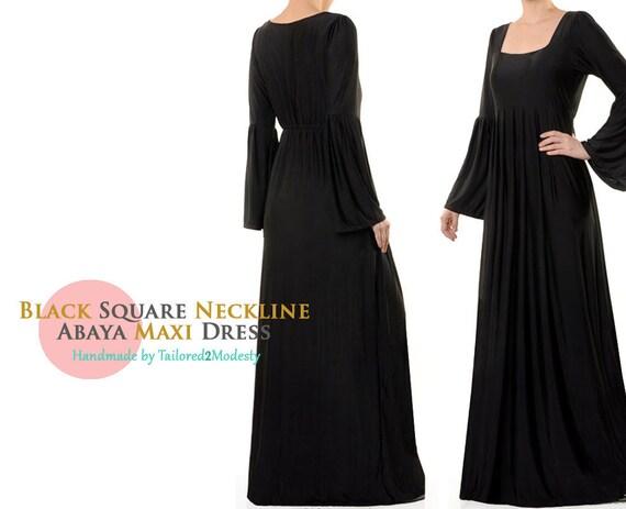 Plus Size Black Dress | 3X Dress 4X Dress | Black Abaya Dress Long Sleeve |  Long Black Dress | Black Oversized Dress Plus Size 3X 4X 5000