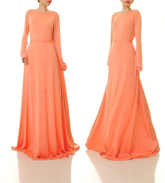 Long Orange Bridesmaid Dresses,Long Orange Bridesmaid Dresses,Orange Long Sleeve Maxi Dress,Orange Long Sleeve Maxi Dress,Orange Maxi Dress,orange maxi dress,