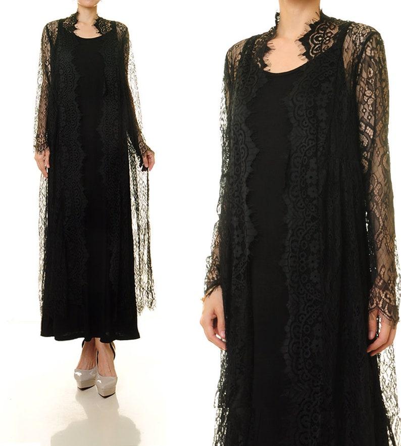 2b9632bc91 Black Lace Robe Black Lace Dress Black Lace Wedding Dress