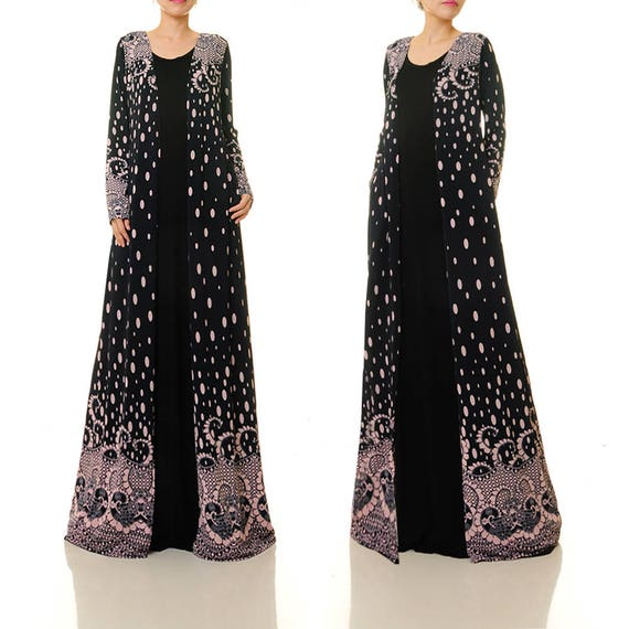 322435320162b Long Cardigan Duster Coat Boho Kimono Cardigan Long Duster Cardigan ...