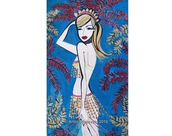 Champagne Carnivale A4 Print